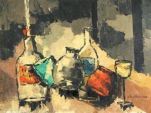 7: BARROS (BRAZILIAN 1923-1998 ) Abstract