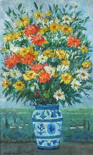 9: CASCELLA (ITALIAN 1892-1989) Flowers