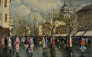 19: BERKES (HUNGARIAN 1874-1938) Park Scene