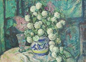 21: LEX (AUSTRIAN 1859-1959) Flowers in a Paint