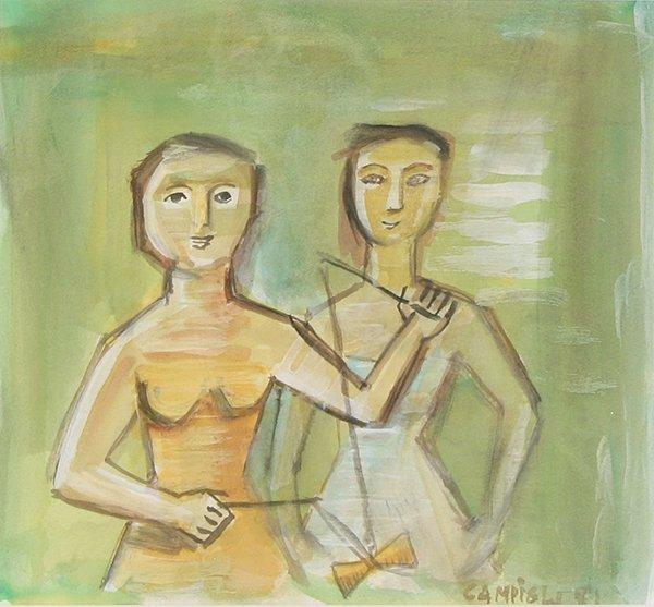 2: CAMPIGLI (ITALIAN 1895-1971) Two Children