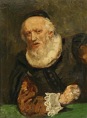 6: KNAUS (GERMAN 1829-1910) Portrait of