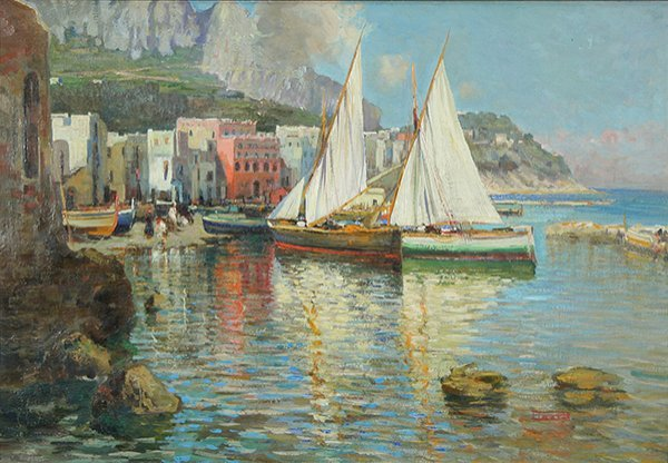 14: GIORDANO (ITALIAN 1880-1964) Harbor Scene