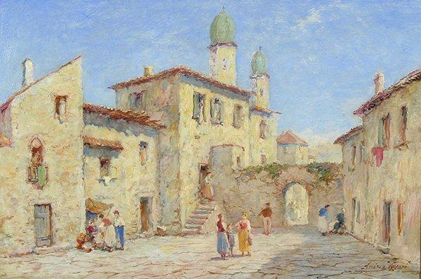 19: VASARI (ITALIAN 19TH CENTURY) Street in Capri