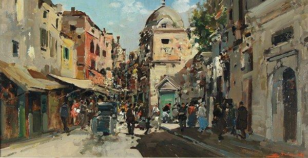 23: BRIANTE (ITALIAN 1901-1970) Street Scene