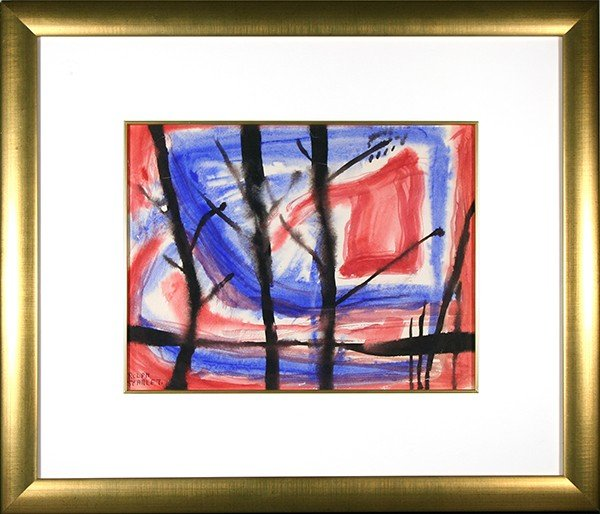 """SCARLETT ( AMERICAN 1891-1984) """"Abstraction with Red"""