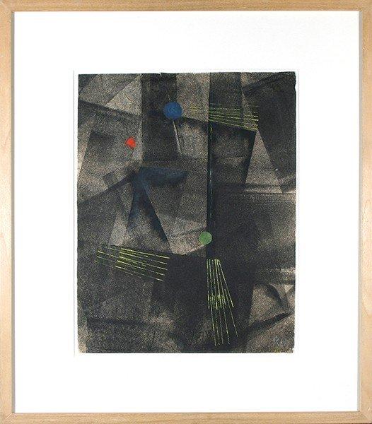 "SCARLETT ( AMERICAN 1891-1984) ""Black Geometric"