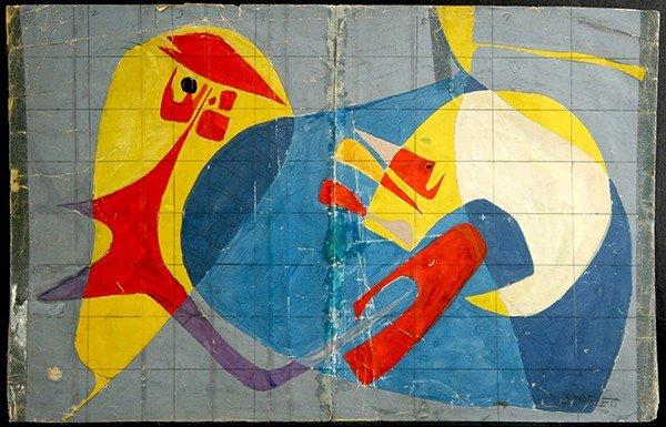 "SCARLETT (AMERICAN 1891-1984) ""2 Biomorphic Abstraction"