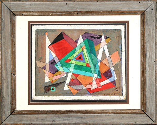 "SCARLETT( AMERICAN 1891-1984) ""Untitled"""