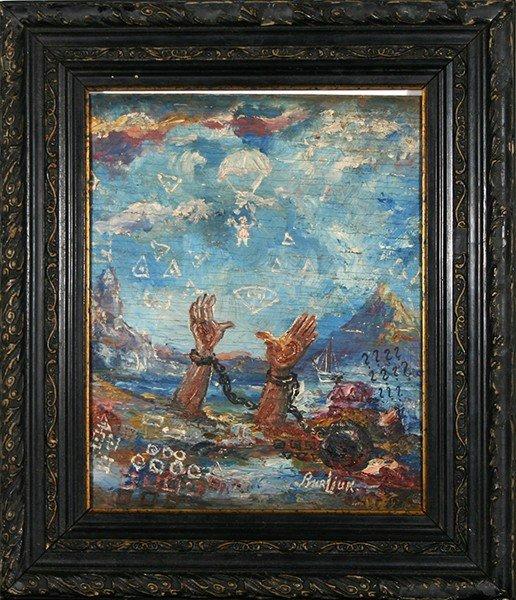 """BURLIUK (RUSSIAN/AMERICAN 1882-1967)  """"Rescuing"""
