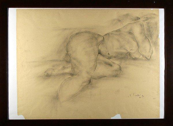 """FECHIN (RUSSIAN/AMERICAN 1881-1955 )""""Reclining Nude"""