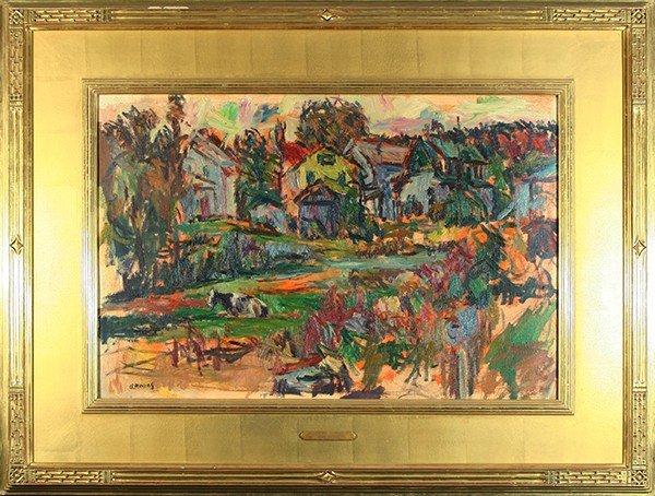 "MANIEVICH (RUSSIAN/AMERICAN 1881-1941) ""Landscape w"