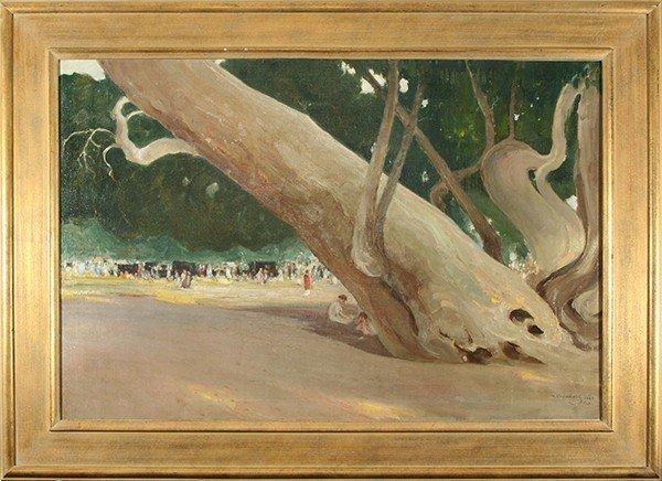 "KALMIKOV (RUSSIAN AMERICAN 1873-1942) ""California Park"""