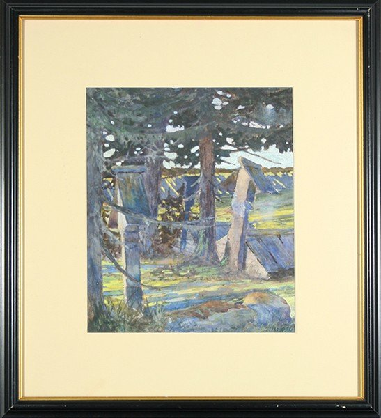 """BILIBIN ( RUSSIAN 1876-1942) """"Forest Landscape"""""""