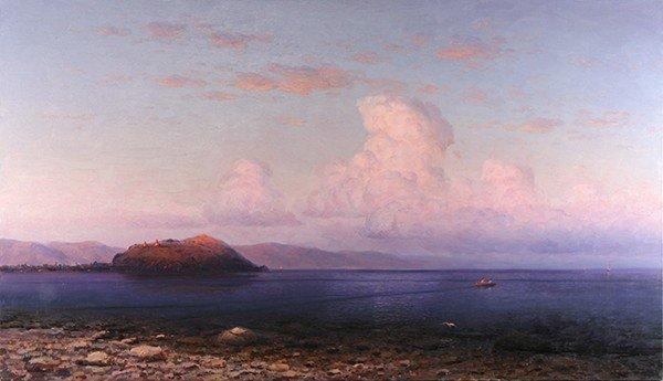 "ISPIRYAN (ARMENIAN 20TH CENTURY) ""Boats on Lake Sev"