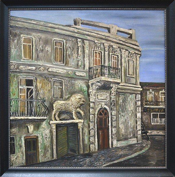 "NATALIA NESTOROVA RUSSIAN B1944 ""House with a Lion"""