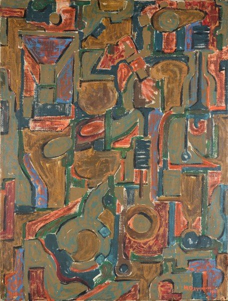 "18: THLIMENOS GREEK 20TH CENTURY ""Abstract Composition"