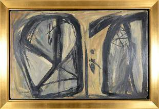 """127: ROLPH SCARLETT AMERICAN 1889-1984 """"Abstract Compos"""