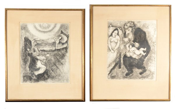 """7: MARC CHAGALL RUSSIAN/FRENCH 1887-1985 """"The Circumcis"""
