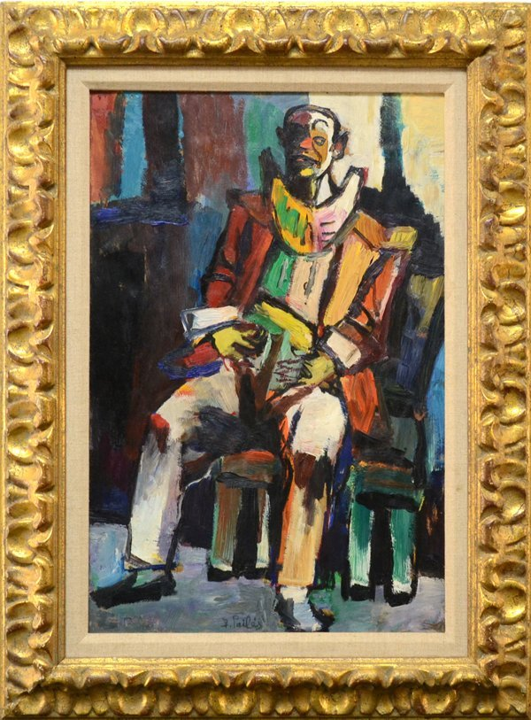 """12: ISAAC PAILES FRENCH/RUSSIAN 1895-1978 """"Sitting Clow"""