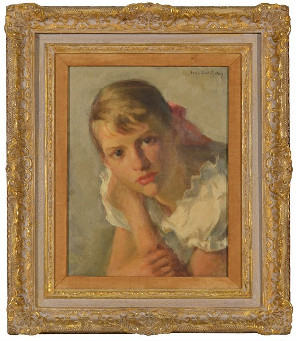 "14: IVAN OLINSKY AMERICAN 1878-1962 ""Portrait of a Youn"