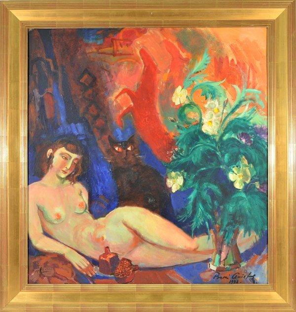 "17: BORIS ANISFELD RUSSIAN/AMERICAN 1879-1973 ""Nude wit"