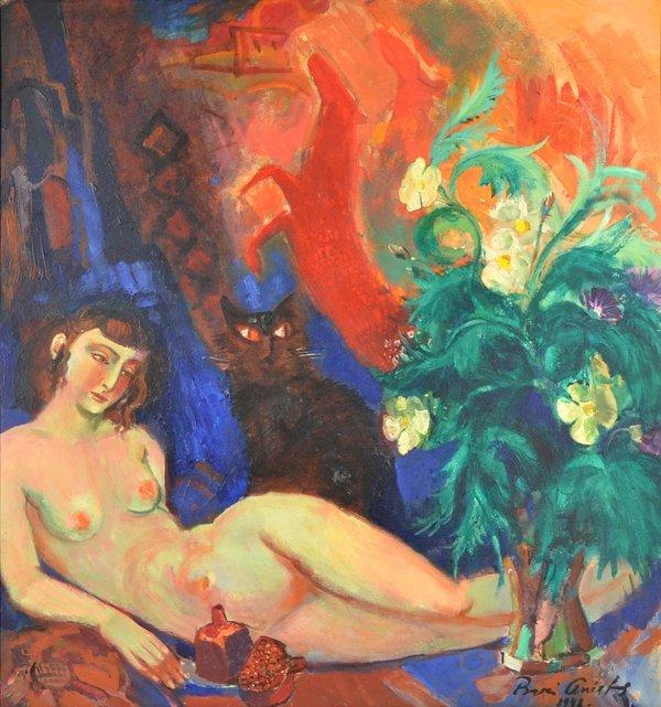 "17: BORIS ANISFELD RUSSIAN/AMERICAN 1879-1973 ""Nude wit - 2"