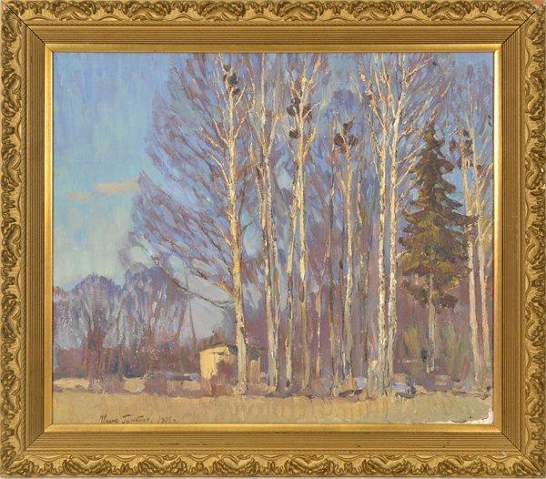 "23: IGOR GRABAR RUSSIAN 1872-1960 ""Birch Trees"""