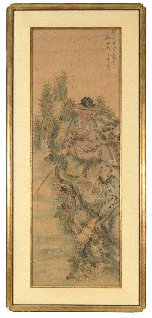 123:  WANG WEN (CHINESE 1497-1576), (STYLE OF HUANG SHE