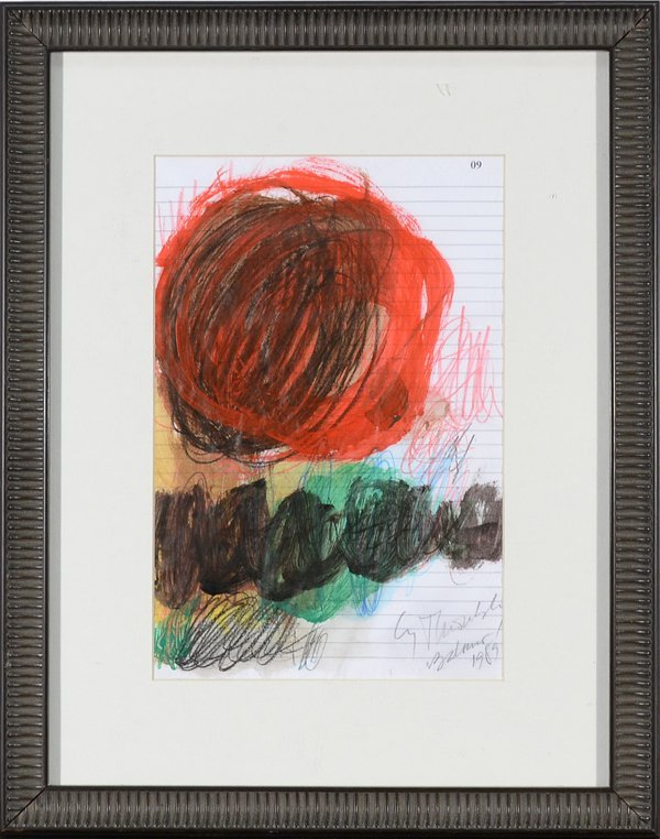 CY TWOMBLY AMERICAN 1928-2011