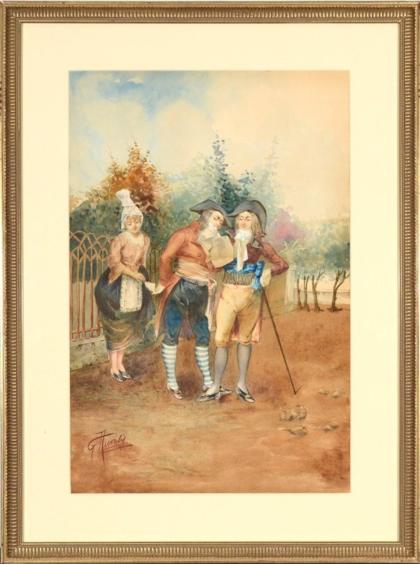 GIUSEPPE AURELI ITALIAN 1858-1929