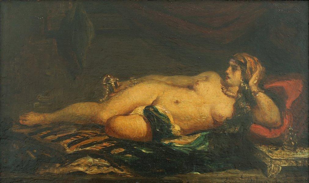 EUGENE DELACROIX (ATTR) FRENCH 1798-1863