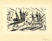 LYONEL FEININGER GERMAN/AMERICAN 1871-1956