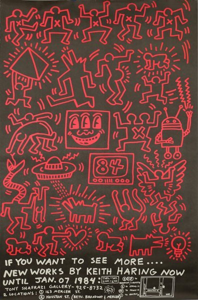 KEITH HARING AMERICAN 1958-1990