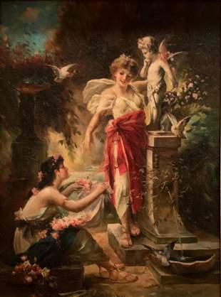 Jean Louis Mourier, 19th Century, France, Painting, Oil