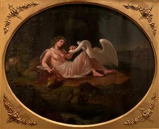 18th Century, Leda and the Swan, Painting, Oil on