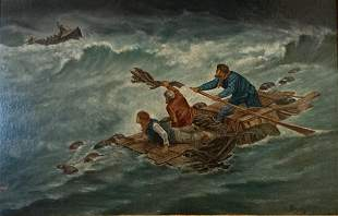 Seascape, 1875, Painting, Oil on Panel