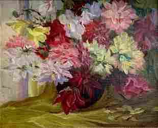 Still Life with Flowers in a Vase, Post Impressionist