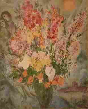 Marc Chagall, Russian, (1887-1985), Blue Bouquet,
