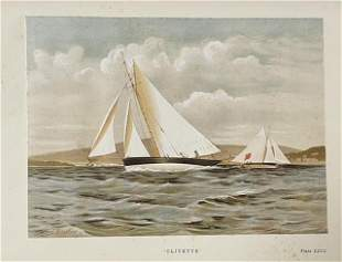 [MARITIME ART] Famous Clyde Yachts 1880-87 from