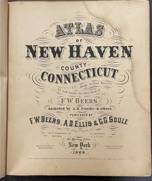 ATLAS OF NEW HAVEN COUNTY, CONN. 1868