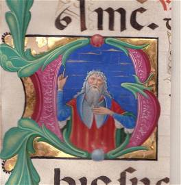 Zacharias, Miniature from a Breviary, iilluminated by
