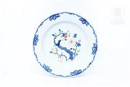 Plato de porcelana esmaltada, China, s.XVIII