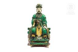 Gran emperador de cerámica, sancai, dinastía Ming.