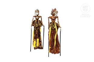 Indonesian puppet couple, 20th century