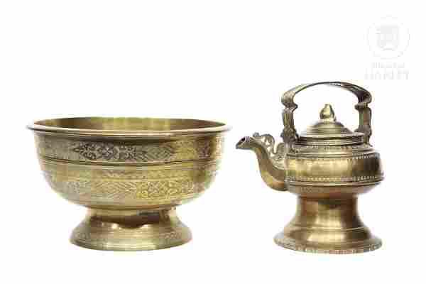 Indonesian Brass Lot, ffs.s.XIX-pps.sXX