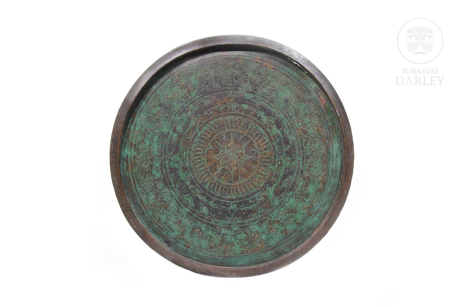 Large Indonesian copper tray, Talam.