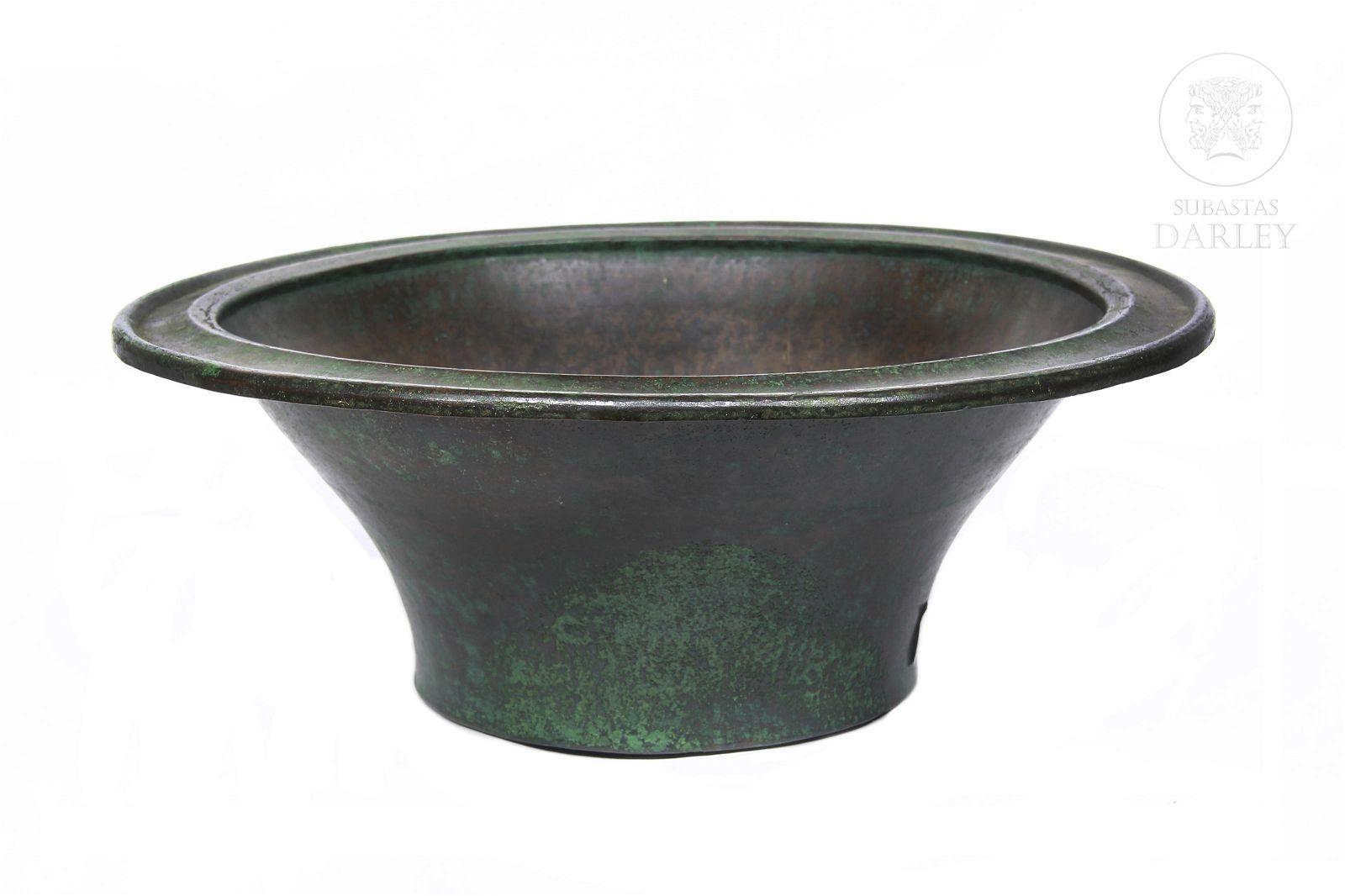 Large flat rim bowl, Indonesia.