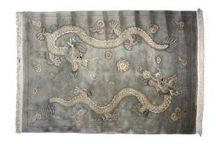A Chinese Wool rug, 20th century