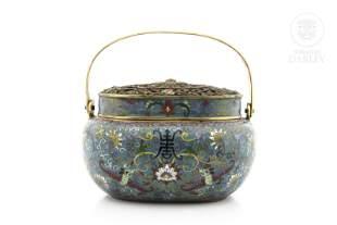 Cloisonné emamel brazier, China, Qing dinasty